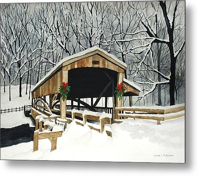 Covered Bridge - Mill Creek Park Metal Print