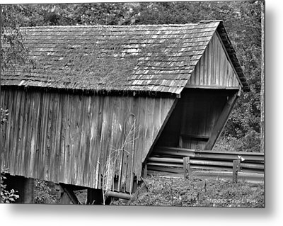 Covered Bridge Metal Print by Tara Potts