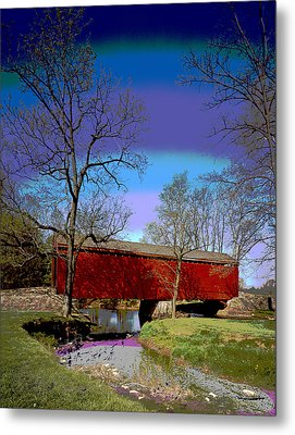 Covered Bridge Thurmont Maryland Metal Print by Charles Shoup