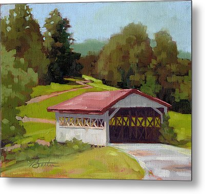 Covered Bridge Metal Print by Todd Baxter