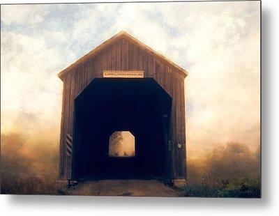 Covered Bridge Metal Print by Tracy Munson