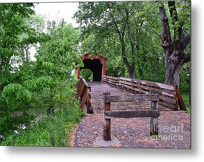 Covered Bridge Metal Print by Utopia Concepts