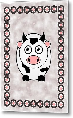 Cow - Animals - Art For Kids Metal Print