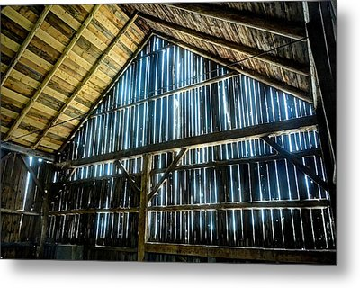 Cow Barn Metal Print