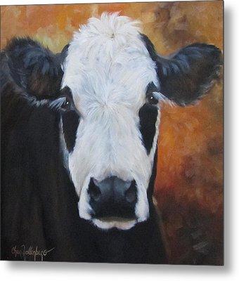 Cow Painting - Tess Metal Print by Cheri Wollenberg