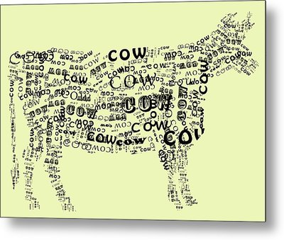 Cow Print Metal Print by Heather Applegate