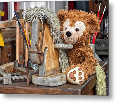 Metal Print featuring the photograph Cowboy Bear by Thomas Woolworth