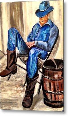 Cowboy Blue Metal Print by Melanie Wadman