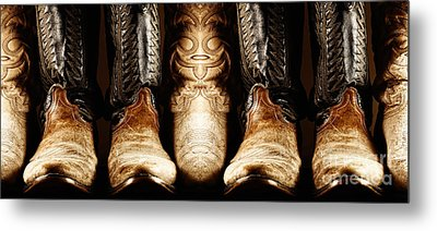 Metal Print featuring the photograph Cowboy Boots Composite by Lincoln Rogers