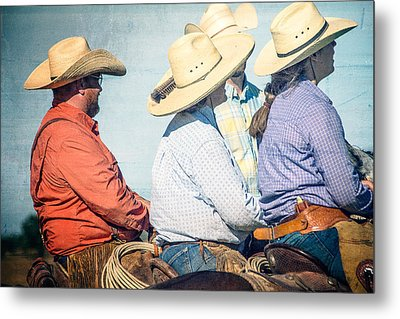 Metal Print featuring the photograph Cowboy Colors by Steven Bateson