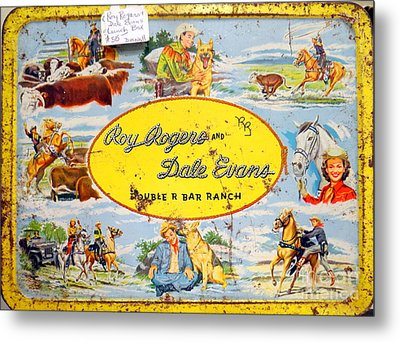 Cowboy Lunchbox Metal Print