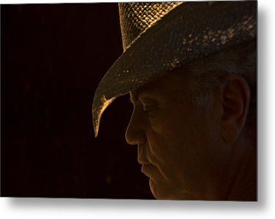Metal Print featuring the photograph Cowboy-the American Icon That Disappeared Into History----------- by Renee Anderson