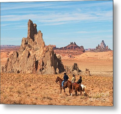 Metal Print featuring the photograph Cowboys by Bob and Nancy Kendrick