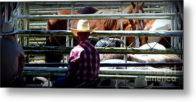 Metal Print featuring the photograph Cowboys Corral by Susan Garren