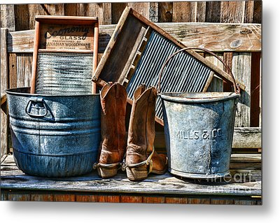 Cowboys Have Laundry Too Metal Print