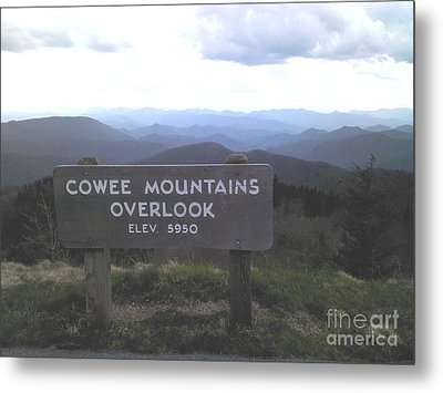 Cowee Mountains Overlook  Metal Print by Angelia Hodges Clay