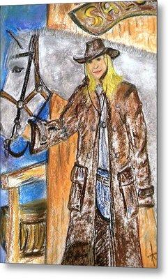 Cowgirl Metal Print by Igor Kotnik
