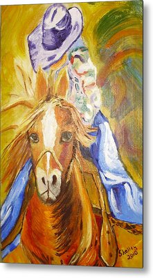 Cowgirl Metal Print by Shelley Bain
