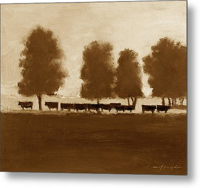 Cowherd Metal Print by J Reifsnyder