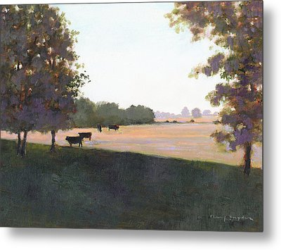 Cows 5 Metal Print by J Reifsnyder