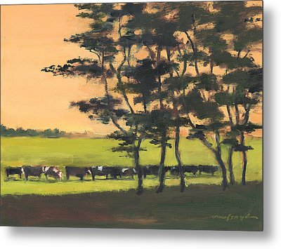 Cows 6 Metal Print by J Reifsnyder