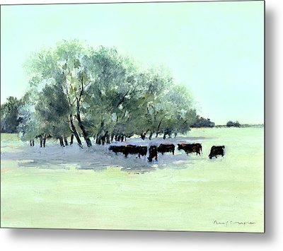 Cows 7 Metal Print by J Reifsnyder