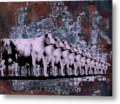 Cows In Order 2 Metal Print by Jack Zulli