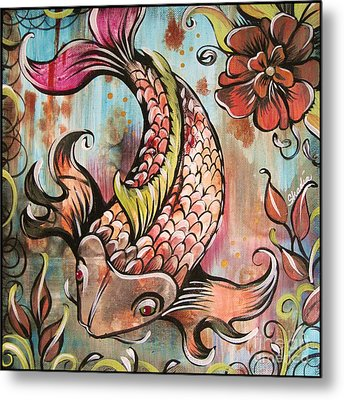 Coy Koi Metal Print by Shadia Derbyshire