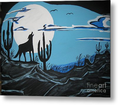 Metal Print featuring the painting Coyote by Jeffrey Koss