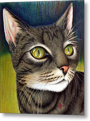 Metal Print featuring the drawing Cozette by Danielle R T Haney