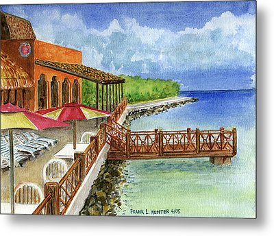 Cozumel Mexico Little Pier Metal Print