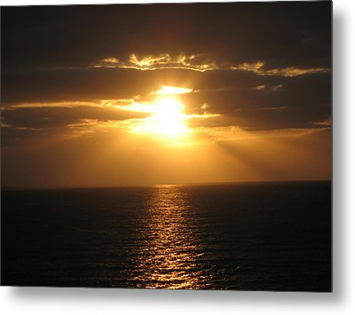 Cozumel Mexico Sunset Metal Print by Jean Marie Maggi