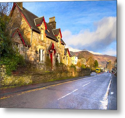 Cozy Cottage In A Scottish Village Metal Print by Mark E Tisdale