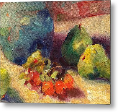 Crab Apples And Pears Metal Print