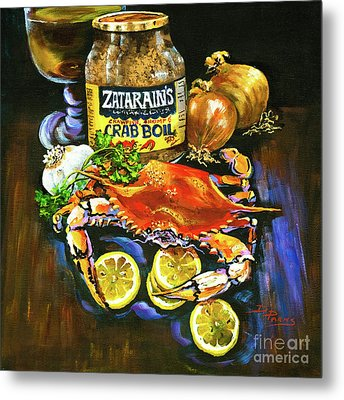 Crab Fixin's Metal Print by Dianne Parks