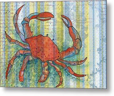 Crabby Crab Metal Print