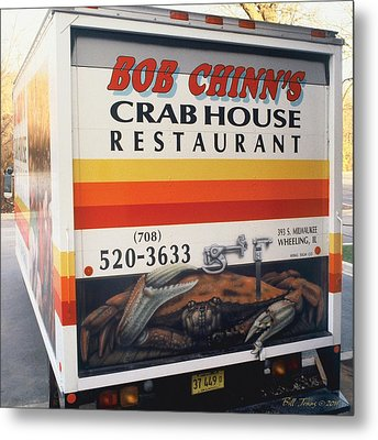 Crabhouse Truck Metal Print by Bill Jonas