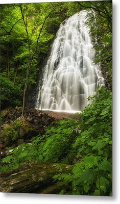 Crabtree Falls Metal Print by Photography  By Sai