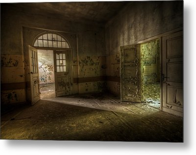Crack Of Light Metal Print by Nathan Wright