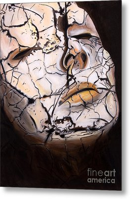 Cracked Metal Print by Denise Deiloh