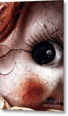 Cracked Eye Metal Print by John Rizzuto