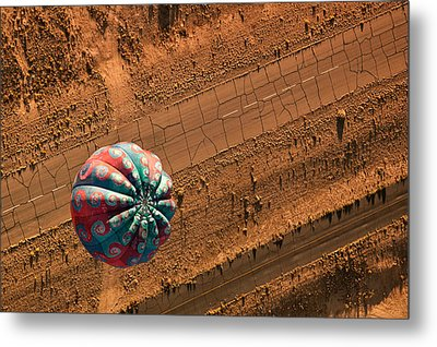 Cracked Highway Metal Print