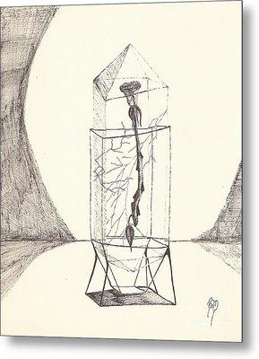 Cracked... Sketch Metal Print by Robert Meszaros