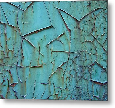 Crackled Rust Metal Print by Ramona Johnston