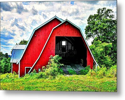 Craftsbury Barn Metal Print
