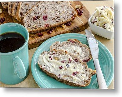 Cranberry Walnut Bread Metal Print by Teri Virbickis