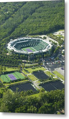 Crandon Park Tennis Center Metal Print by Celso Diniz