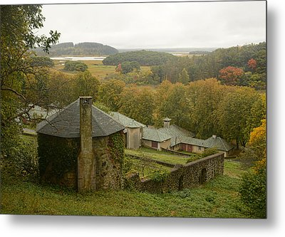 Crane Estate On A Misty Day Metal Print