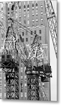 Cranes Ready For Action Metal Print