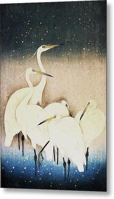 Cranes  Metal Print by Shanina Conway